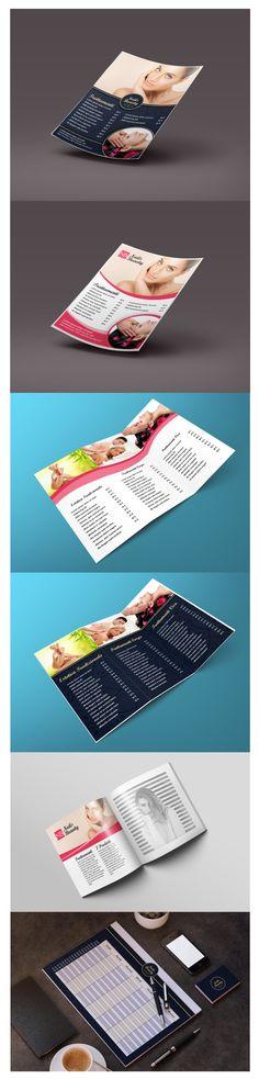 Proposte per Centro Estetico: Flyer, Pieghevole, Catalogo, Book Appuntamenti.  Graphic Designer: Ilaria Gallotti