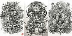 Showcase of brilliant intricate drawings of DZO Olivier. He is a France based graphic designer, a self-taught painter and illustrator who is graduated from