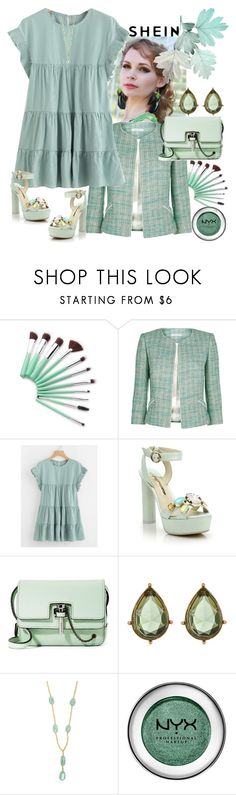 """Shein"" by vaslida ❤ liked on Polyvore featuring Fenn Wright Manson, Sophia Webster, Carven, Carolee, Maurizio Pintaldi and NYX"