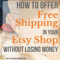 Offering free shipping in your Etsy shop is a guaranteed way to bring in more buyers but how to offer free shipping on Etsy is a big question. The number one reason people abandon their shopping cart in Etsy is because they see how much the shipping is...#Etsyfreeshipping, #etsytutorials #etsyshopowner #howtoetsy