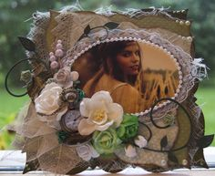Mitt Lille Papirverksted: Sommer i Grønt Vintage Cards, Floral Wreath, Shabby Chic, Wreaths, Manga, Home Decor, Summer Recipes, Decoration Home, Door Wreaths