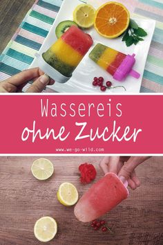 Making water ice yourself: 7 fruity step by step recipes - Ice Ice Baby - Ice Cream Great Desserts, Healthy Dessert Recipes, Summer Desserts, Baby Food Recipes, Summer Recipes, Fancy Desserts, Vegetarian Recipes, Healthy Ice Cream, Make Ice Cream