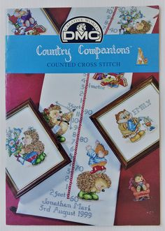 DMC counted cross stitch booklet   Country Companions