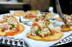 What better way to start off a wedding festivities here in #LongBeach than with an exquisite, refreshing red snapper ceviche?  More: https://www.sohotaco.com/2015/06/27/taco-catering-a-long-beach-wedding-at-rancho-los-cerritos #tacocatering #lafoodies