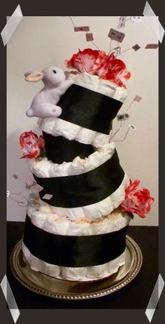 Covered In Crafts: MadHatter Diaper Cake