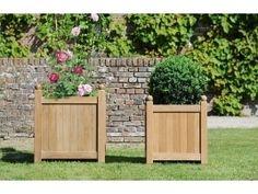 Fioriera Versailles di Tectona, fioriera in legno grezzo #fioriera #outdoor #esterni