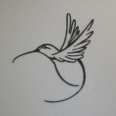 Metal Butterfly Wall Art, Butterfly Art, Bird Art, Hummingbird Drawing, Hummingbird Tattoo, Tatoo Art, Body Art Tattoos, Tatoos, Freedom Symbol Tattoo