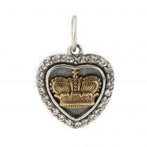 Heart's Content - Crown - Sterling Silver, Brass & Swarovski