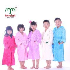 1PC High Quality Cartoon Youth Fleece Kids  Home Pool Pajamas Plush Robe  Flannel   e7c0e774e