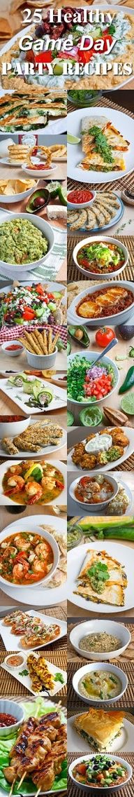 For the healthier tailgaters! 25 Healthy Game Day Party Recipes