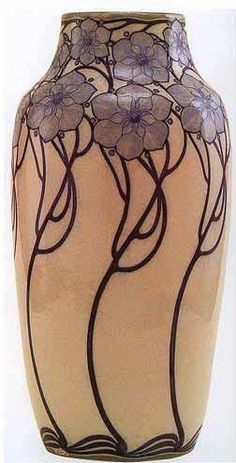 Vase by Galileo Chini, the famous Italian artist credited with introducing Art Nouveau or the Liberty style into Italy Design Art Nouveau, Motif Art Deco, Vases Decor, Art Decor, Decoration, Glass Ceramic, Ceramic Art, Pottery Vase, Ceramic Pottery