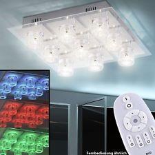 Plafonniers LED RVB changement de couleur éclairage cristal cube de