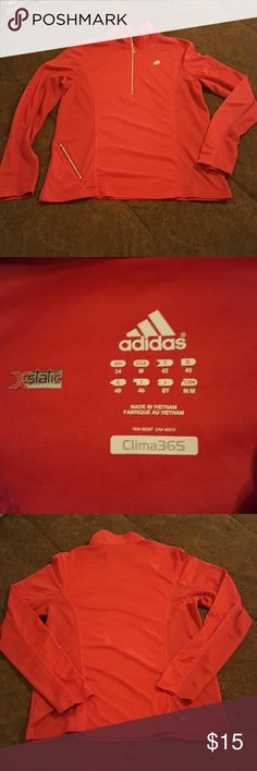 Adidas Pullover This is light weight and dry-fit, red in color Adidas  pull over. Adidas Tops Sweatshirts & Hoodies
