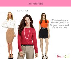 "Style Tips For Short or Petite Women --> Some really good tips here. I'm borderline on this since I'm between 5'3"" and 5'4""."