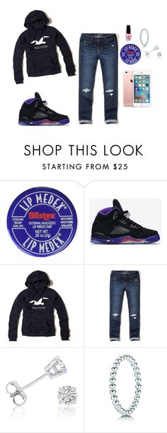 """""""Hoodie and Jeans"""" by dreairrational on Polyvore featuring NIKE, Hollister Co., Amanda Rose Collection, Pandora and OPI"""
