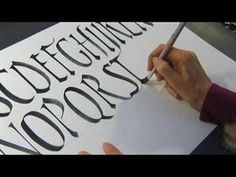 Calligraphy History & Styles : Calligraphy Relaxed Strokes - YouTube - GAh, I love Rustic! So gorgeous and looks fun to write. Must get myself some good fountain/broad nib pens...