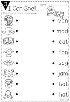 Are your kindergarten and grade one students learning CVC words? These no prep printable worksheets come with a CVC magnetic letter activities - perfect for literacy groups! setting for kids printables English Worksheets For Kindergarten, 1st Grade Worksheets, Kindergarten Learning, Reading Worksheets, Printable Preschool Worksheets, Worksheets For Preschoolers, Free Printable Kindergarten Worksheets, Vowel Worksheets, Preschool Learning Activities