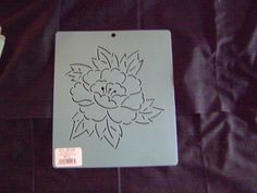 Sashiko Japanese Embroidery Stencil 6 in. Peony Motif Block/Quilting by KimonoBoro on Etsy