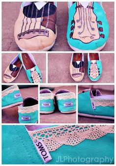 Made these TOMS myself! Very easy, DIY idea!