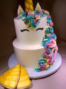 Unicorn Cake 2 Tier Vanilla 13 Birthday Parties