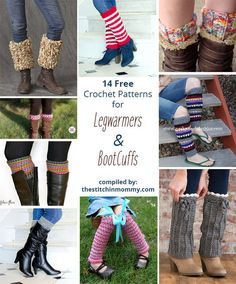 14 Free Crochet Patterns for Legwarmers and Boot Cuffs compiled by The Stitchin' Mommy   www.thestitchinmommy.com