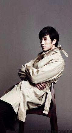 JI-SUB can even rock a trench coat....