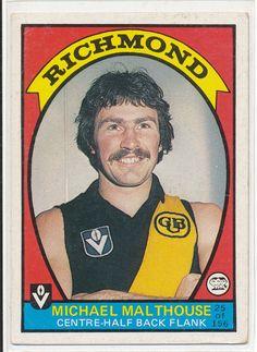 SCANLENS VFL AFL 1978 FOOTBALL FOOTY CARD MICK MALTHOUSE RICHMOND TIGERS au.picclick.com
