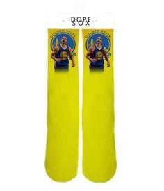 Image of Steph Curry Goldan State Champion Elite socks