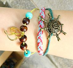 Rudder and  flower  Adjustable  hipster jewelry by goodlucky, $7.20