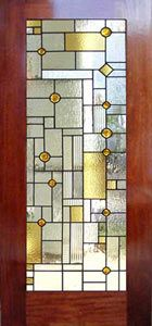 Leaded glass -- love the front door with classic materials but a more contemporary feel!