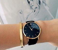 Black  Gold Watch by Sierra Rose on Luuux