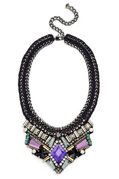 Azia Purple Necklace by Nocturne for $35   Rent The Runway
