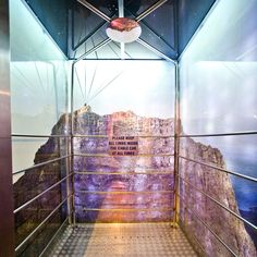 """The """"Cable Car"""" elevator in the Fire & Ice Hotel in Cape Town Cape Town Hotels, Ice Hotel, Room Signs, Fire And Ice, Amazing Adventures, Cool Rooms, Wonders Of The World, Places Ive Been, South Africa"""