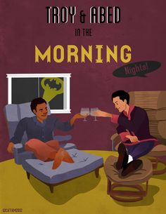 I love this picture! troy and abed in the morning show :D