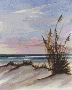 Cross stitch kit by Rosie Brown 'Sunset Dunes' - contemporary counted crossstitch