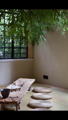 . Japanese Home Decor, Japanese Interior, Japanese House, Chinese Tea Room, Tea Room Decor, Deco Zen, Zen Style, Zen Room, Wabi Sabi