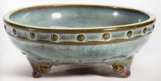 """Imperial numbered """"jun"""" narcissus bowl, early Ming Dynasty, China, 8 1/4"""" in diameter."""