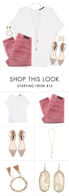 """""""still hoping its me and you in the end."""" by kaley-ii ❤ liked on Polyvore featuring Violeta by Mango, Nobody Denim, Lulu*s and Kendra Scott"""