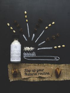 nativo skincare reviews, natural tooth powder reviews, tlv birdie blog, creative product photography, green beauty blog