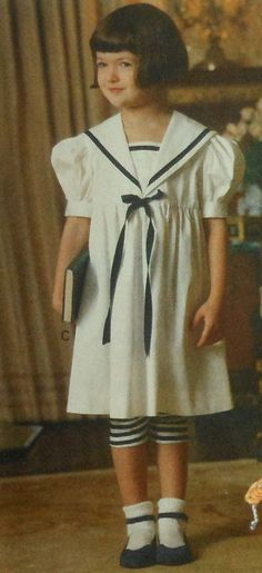 Vogue Toddler Sailor Dress and Leggings Sewing Pattern