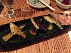 Sakagura - grilled Japanese eggplant with 3 misos