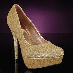 2570d1be88 GOLD GLITTERPUMP  56 at PromShoes.com!
