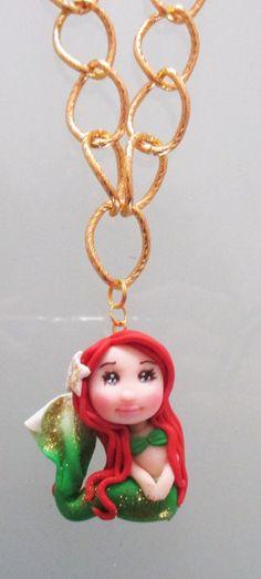 Collana con ciondolo graziosa bambolina sirenetta di Magicla