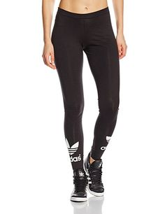 adidas Damen Leggings Trefoil, black, 34, AJ8153