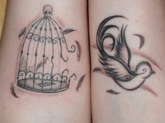 Ok I want this as a tattoo but a prettier bird cage