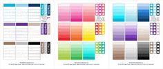 Big Happy Planner: Rainbow Checklists by SoPrettyPersonalized