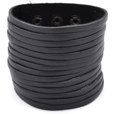 Buy Collin Rowe - Black Wide Multi Leather Bracelet for only Shop at Trendhim and get returns. Bracelet Cuir, Bracelet Set, Bracelet Making, Bracelets For Men, Beaded Bracelets, Mode Mantel, Engraved Bracelet, Cheap Gifts, Natural Leather