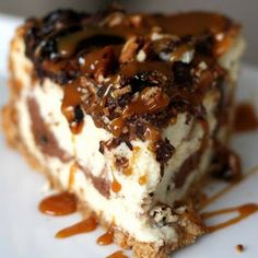 . Caramel Pecan Turtle Cheesecake Recipe from Grandmothers Kitchen.