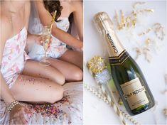 Confetti + gold wedding inspiration shot by Amy & Jordan Photography