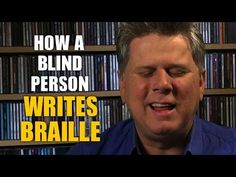Tommy Edison, who has been blind since birth, demonstrates how blind people write braille using a Perkins Brailler. ------------------ 2nd Channel: http://ww...